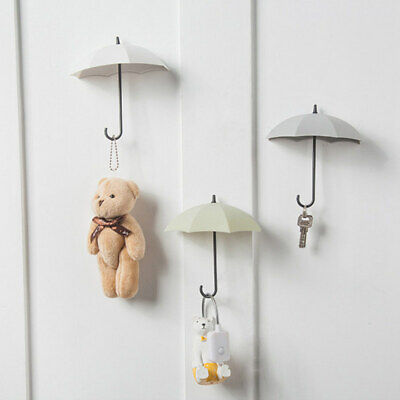 6pcs Umbrella Wall Hook Key Hair Pin Holder Colorful Organizer Decor