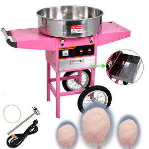 Electric Commercial Cotton Candy Machine Cart Kit 1030w Floss Maker Store Booth