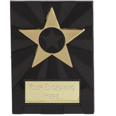 Budget Black Apex Plaque Award - Cheap Trophies School Sports - Free Engraving
