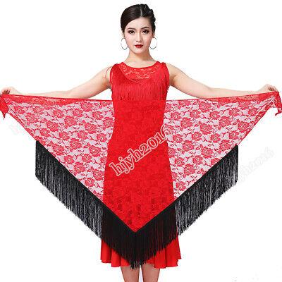 Latin Dance Hip Scarf Performance Wear Halloween Costume Skirt Lace Tassel Salsa - Ballroom Dance Halloween Costume