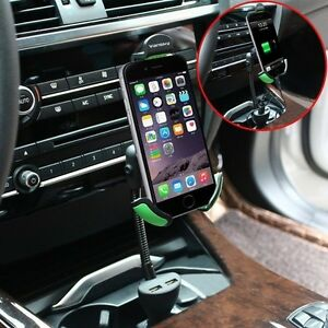 Universal Gooseneck Car Mount Holder with charger in one