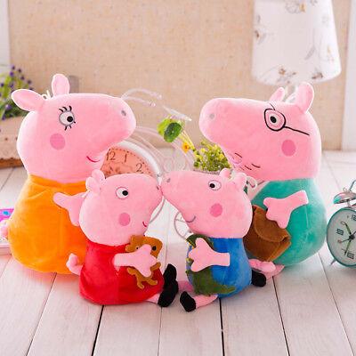4 Stück Peppa Pig Schweine Peppa Wutz Familie Plüschtiere Plüsch Puppe Stofftier ()