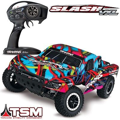 NEW Traxxas Slash VXL Brushless 2WD RTR RC Truck HAWAIIN BODY w/TSM - 58076-4