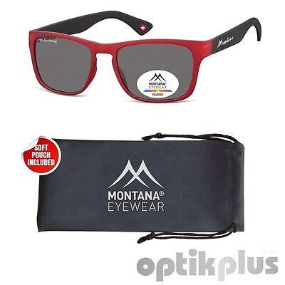 Sonnenbrille MONTANA Eyewear MP39A - mit polarisierenden Gläsern - mattrot