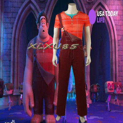 Hot Wreck-It Ralph2 Cosplay Adulte Costume T-shirt Ralph Halloween high - Wreck It Ralph Adult Costume