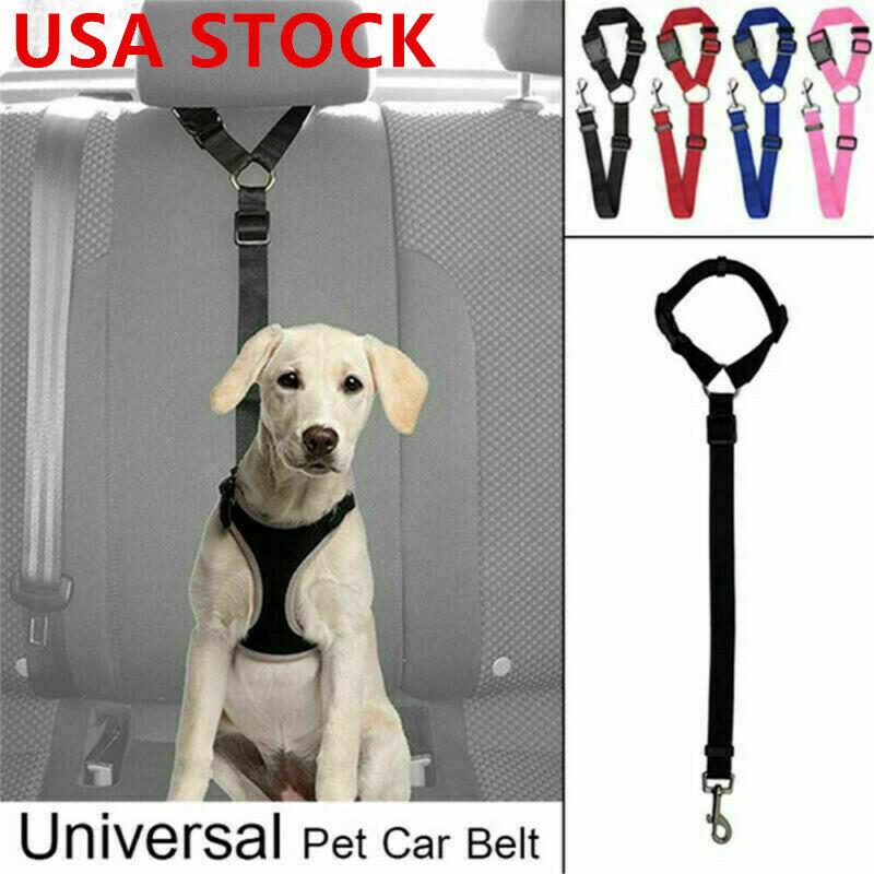 Cat Dog Pet Safety Car Seat Belt Strap Adjustable Harness Le