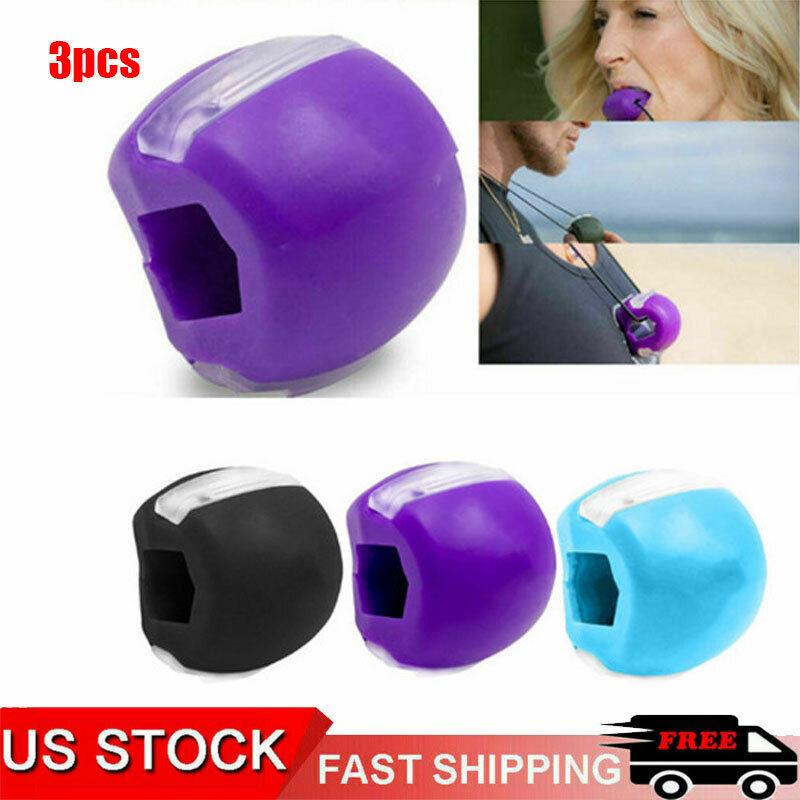 3pcs Jaw line Exerciser Top Jawzrsize Exercise Fitness Ball Neck Face Toning Jaw
