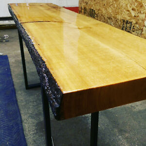 live edge clear coated epoxy
