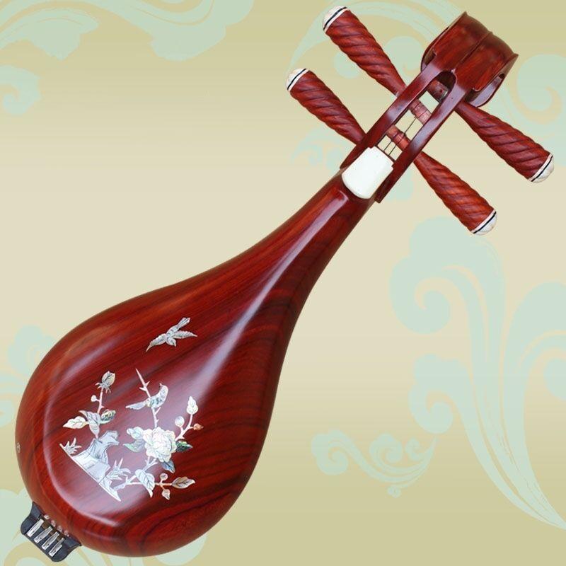 New Rosewood Liuqin, Chinese Soprano Pipa Lute Guitar Musical Instrument #4033