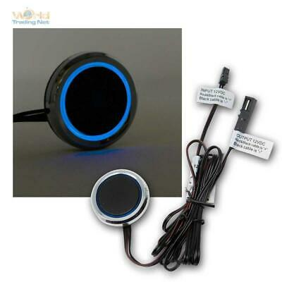 Einbau-Schalter LED Regulador 12V Dc / 3A,Anillo Luminoso Azul,Reductor Giro Al
