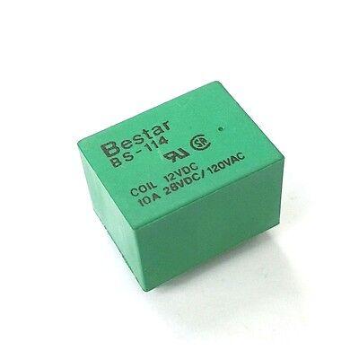 New Bestar Bs-114-10a-12vdc 12v Dc Coil 10 Amp Spdt Miniature Pc Mount Relay