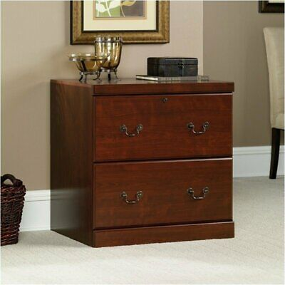 Pemberly Row 2 Drawer Lateral Wood File Cabinet In Classic Cherry