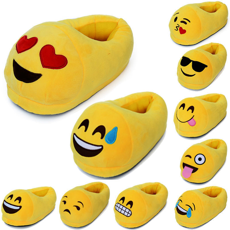Children/'s Emoji Novelty Slippers