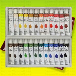24 PC OIL Paint Set Professional Artist Color Painting 12ml Tubes