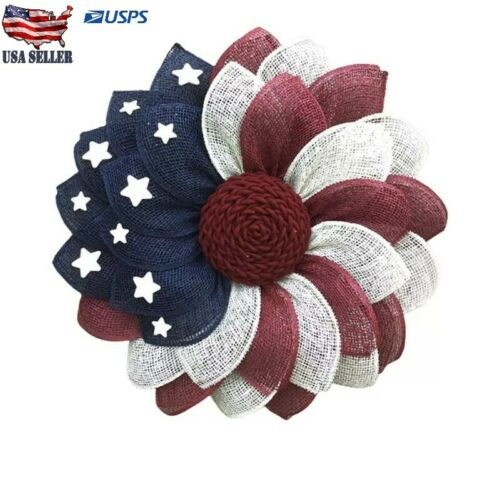 Patriotic Independence Wreath For Front Door Fourth of July Decor Wreath Easter