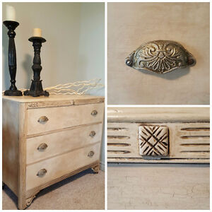 Three drawer dresser beautifully refinished