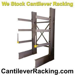 Regular duty structural steel cantilever racking in stock - pipe racks - lumber racking - sheet metal rack - wood rack