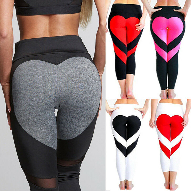 Womens Leggings Yoga Sports Athletic Fitness Stretch: HOT Women Yoga Fitness Leggings Running Gym Stretch Sports