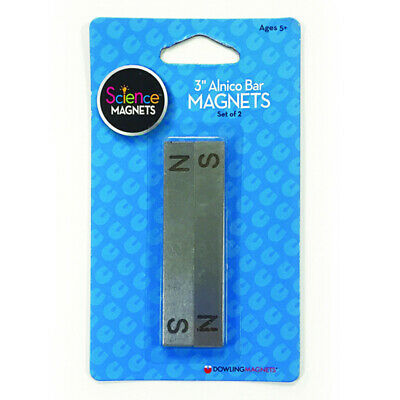 Alnico Bar Magnets 3 Long Pack Of 2