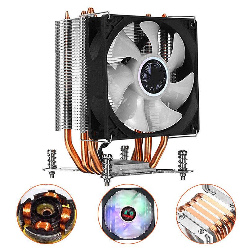 4 copper 90mm rgb heatsink cooling fan