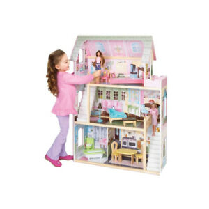 Cozy Country Wooden Barbie Dollhouse