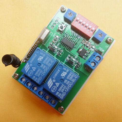 DC 12V 433MHz Timer Delay RF Wireless Relay Controller For PT2262 EV1527 Encoder