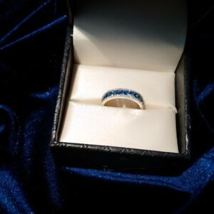 Ladies' Band - Blue Sapphires and Diamonds