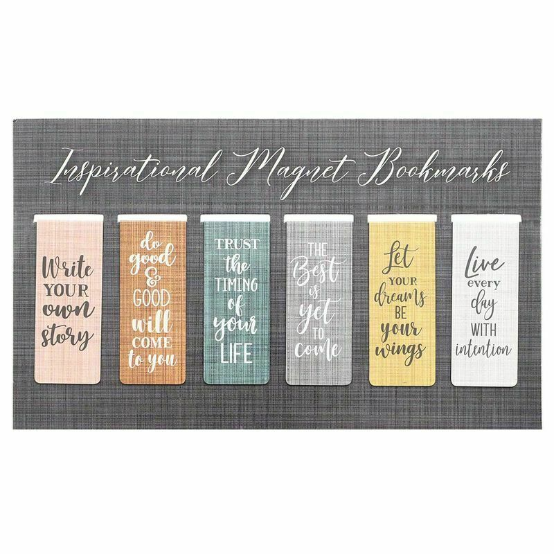 """36x 2.5"""" Magnetic Bookmarks w/ Inspirational Quotes Paper Clip Page Markers"""