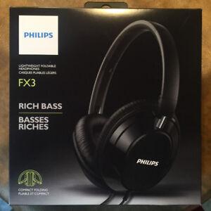 Philips Headphones Over-ear Rich Bass FX3 - Black