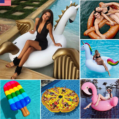 Giant Inflatable Swimming Pool Pond Lake Flamingo Pegasus Float For Kids  Adults