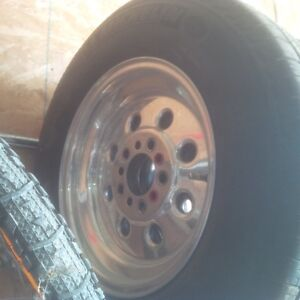 15 x 6 Weld Draglites with good tires
