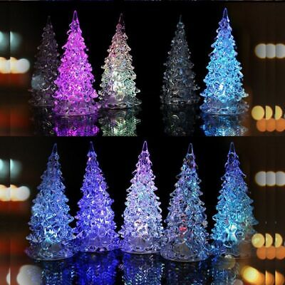 LED Christmas Tree Dream Crystal Small 7 Color Novelty Colorful Night Light Lamp