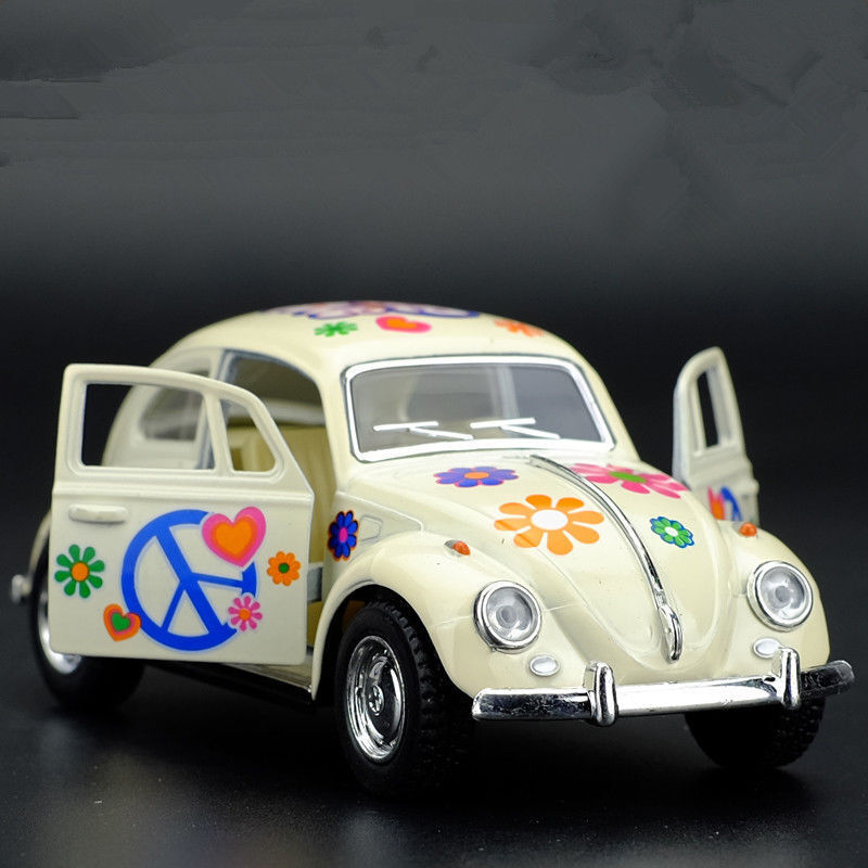 VW Beetle 1967 Painted Version Model Cars Toys 1:32 Gifts Alloy Diecast Yellow