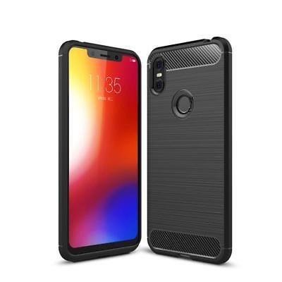 Motorola Handy Cover (CoverKingz Motorola One Handyhülle Back Cover Silikon Hülle Carbonfarben)