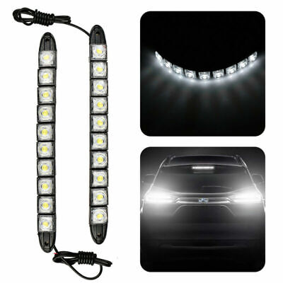 2PCS Car LED 12V Daytime Running Lights Driving DRL Fog White Front Strips Lamps