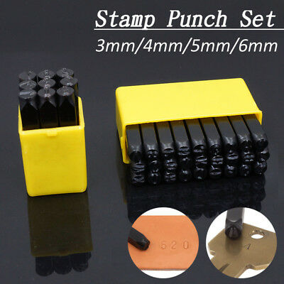 Alphabet/Number Stamps Craft Set Letters Punch Die Steel Metal Leather Tool Case](Metal Alphabet Stamps)