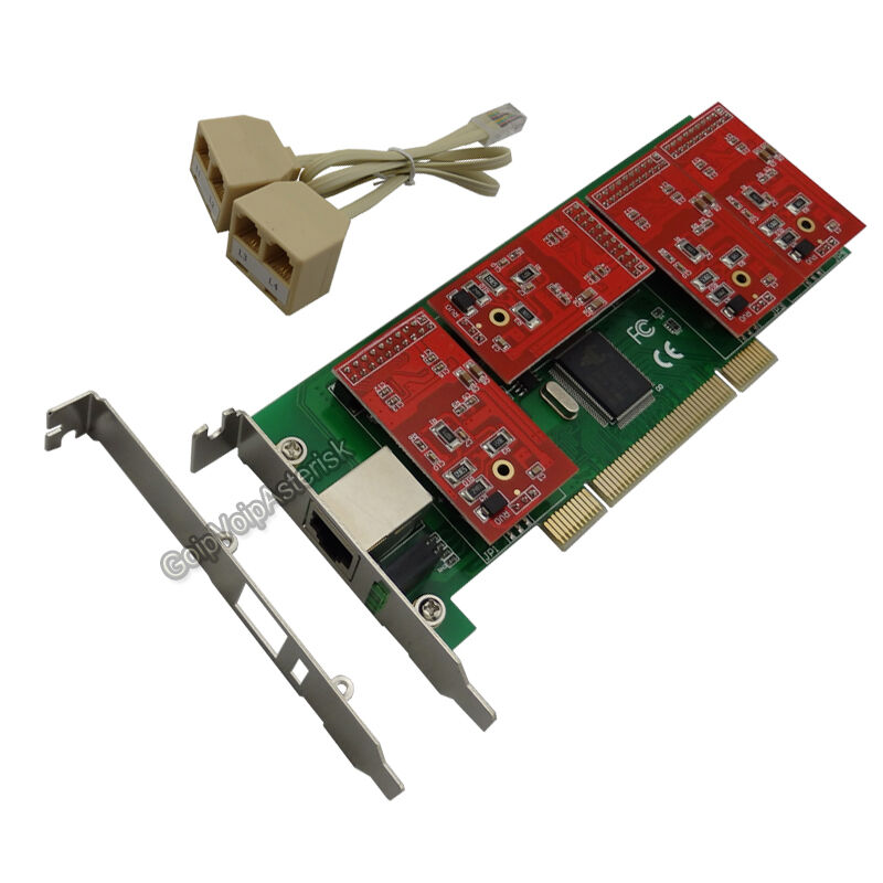 TDM410P Low profile 4FXO  Asterisk card PCI card support elastix trixbox freepbx