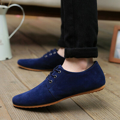 (Men's Classic Suede Moccasins Fashion Casual Business Shoes Comfort Walking )