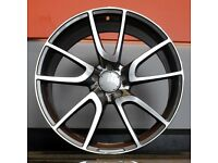 """20"""" C43 Style Alloy Wheel and Tyre Package 5X112 Mercedes-Benz C-Class"""