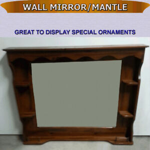 WALL/MANTLE MIRROR WITH CORNER SHELVES - GREAT CONDITION