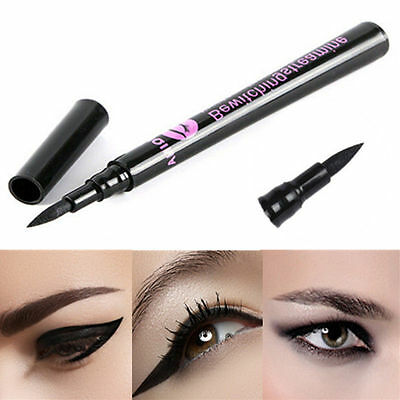 Women's Liquid Eye Liner Pen Pencil Black Waterproof Eyeliner Makeup Cosmetic H7