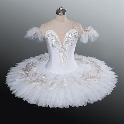 🇺🇸  Professional Odette White Swan Classical Ballet Tutu Costume Bust 30-33 M