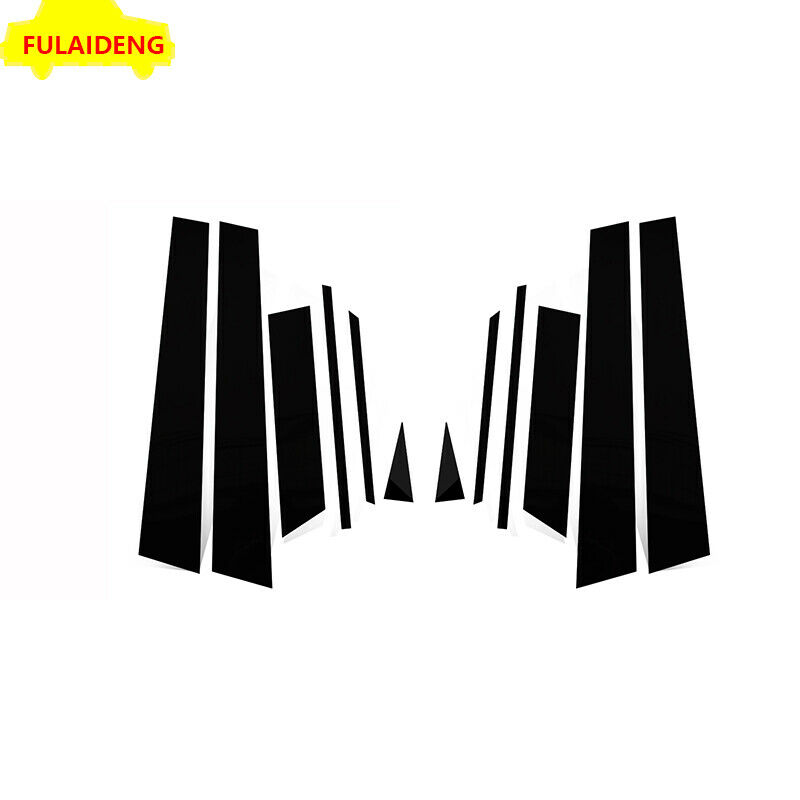 12pcs For Subaru Forester 2013-2018 Black Door B,C Pillar Mirror Plate Molding