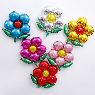 1Pc Flower Shape Aluminum Foil Helium Balloon Wedding Birthday Party - Flower Balloons