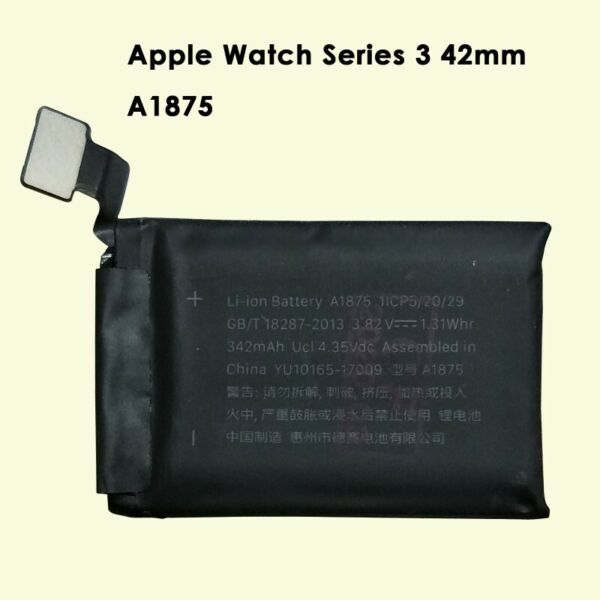 Battery Replacement for Apple Watch (GPS + Cellular) Series 3 42mm A1860 342mAh