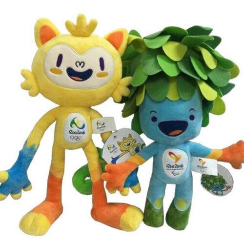 Hot Brazil Rio de Janeiro Olympic Paralympic Plush Mascot Vinicius / Tom 2016
