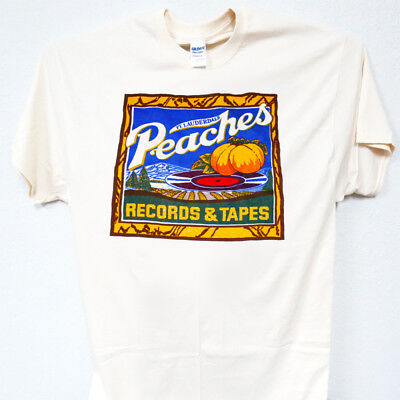 PEACHES, Records & Tapes, Vintage, Old School, Ivy T-Shirt-All Sizes (Old School Vintage T-shirt)