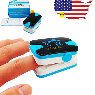 Oled Finger Tip Pulse Oximeter Spo2 Pr Meter Blood Oxygen Saturation Tester Blue