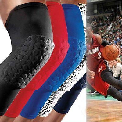Soft Long Sleeve Basketball Gym Leg Protector Crashproof Knee Gear Honeycomb Pad