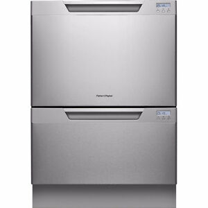 """Fisher Paykel Dual Dish Drawer 24"""" Stainless Steel - Tall Series"""